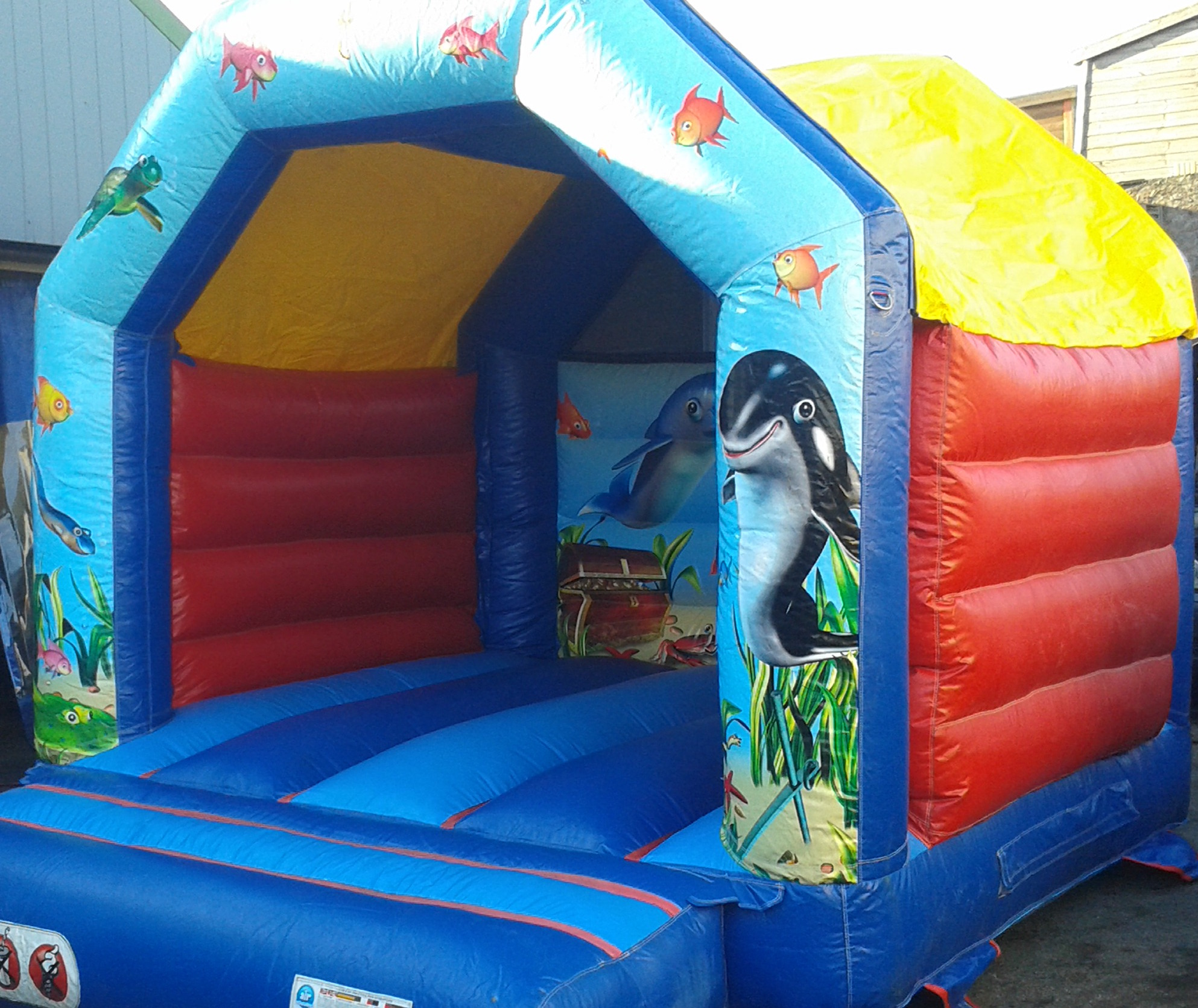 Under the sea bouncy castle