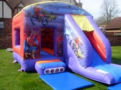 Action Hero Castle with Slide 12x18ft
